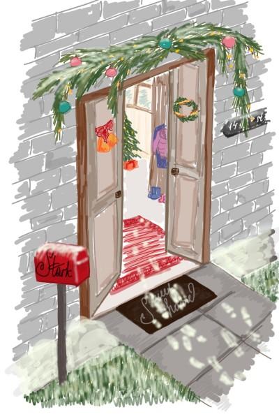 Christmas door | KseniaStark | Digital Drawing | PENUP