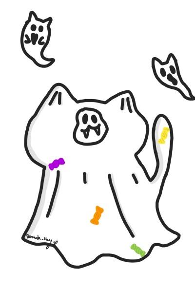 유령냥 | BERMUDA_HAY | Digital Drawing | PENUP