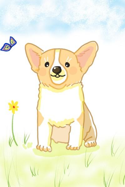 Happy Dog | Sylvia | Digital Drawing | PENUP
