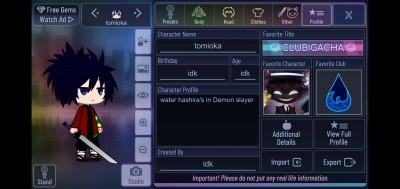 giyu tomioka in gacha from demon slayer in  | sweet_dragon | Digital Drawing | PENUP