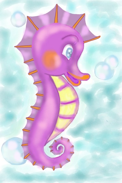 cute little sea horse ♡ | Sylvia | Digital Drawing | PENUP