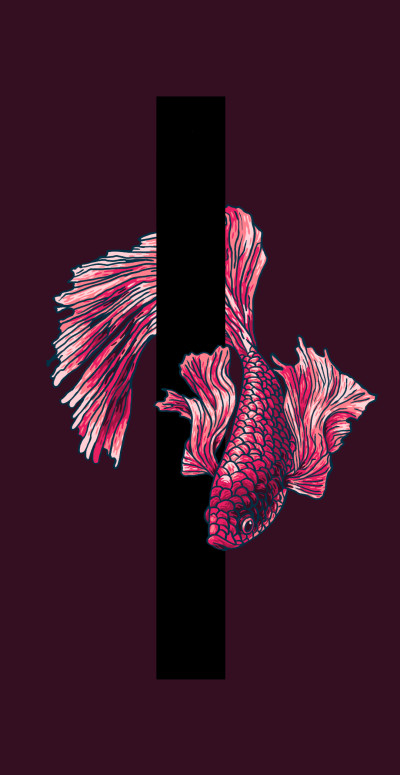Betta lumbering around the pillar. | remsleep | Digital Drawing | PENUP