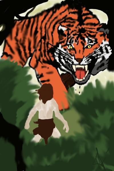 Mowgli and Sherkhan | Natasha | Digital Drawing | PENUP
