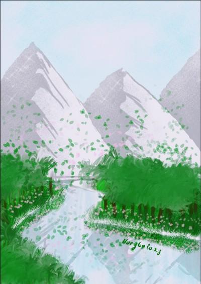 Landscape Digital Drawing   MaryGalaxy   PENUP