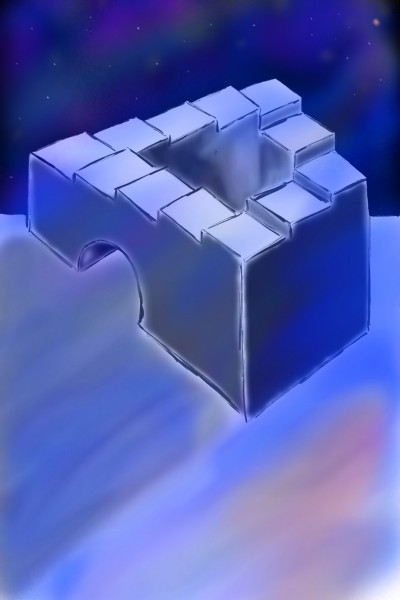 THE PENROSE STAIRS AT GALAXY NIGHT | robert90zgr | Digital Drawing | PENUP
