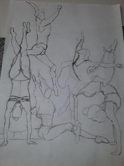 Ballet performers!  It's still in progress! | NEF_katip | Digital Drawing | PENUP