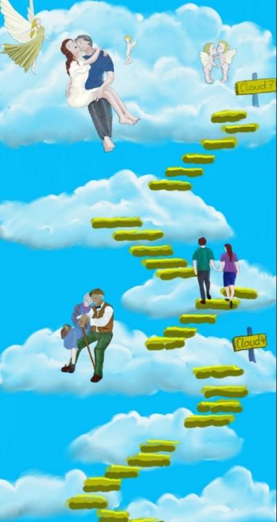 Stairs between Clouds | sherlock | Digital Drawing | PENUP