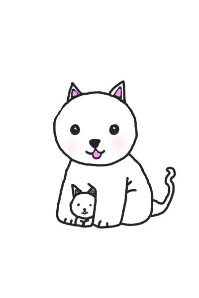 고양이와 새끼고양이   narsha   Digital Drawing   PENUP