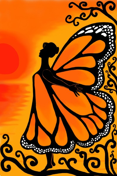 cooperation with @Mona good morning butterfly | sam | Digital Drawing | PENUP