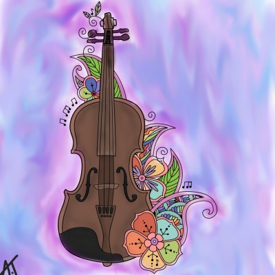Violin abstract    Art._.Amy   Digital Drawing   PENUP