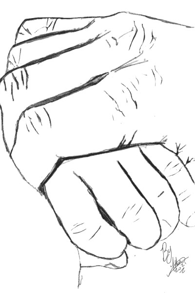 Father and son hand in hand! | Iainh | Digital Drawing | PENUP