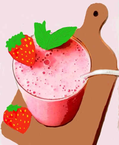 Strawberry smoothie | JoyOfSocks | Digital Drawing | PENUP