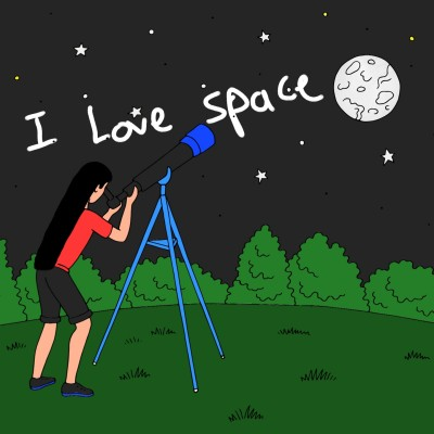 I love space #mydream | A.K.G_INDIA | Digital Drawing | PENUP