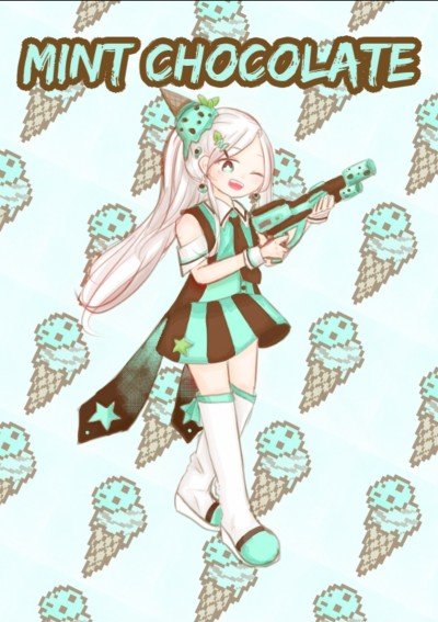 민초 의인화 [Mint chocolate personification] | grapefruitgumi | Digital Drawing | PENUP
