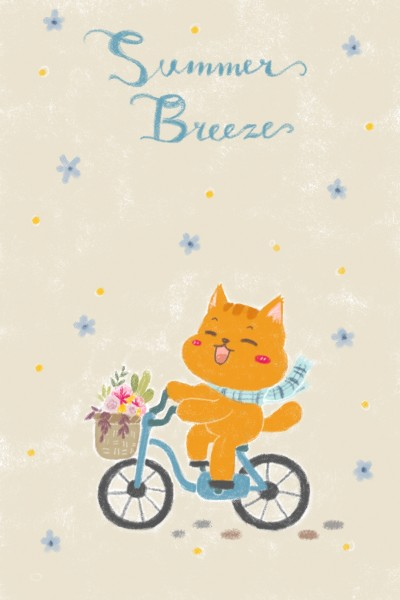 Ride Your Bike Meow~ | Orenjineko | Digital Drawing | PENUP