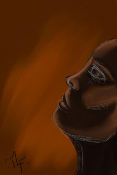 Brown to bronze Profile   EffareWhy   Digital Drawing   PENUP