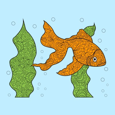 Fish | Sunset_MOON | Digital Drawing | PENUP