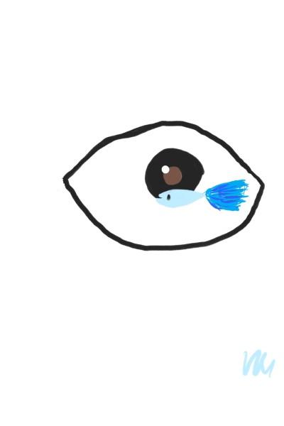 eye&fish  | skycastle | Digital Drawing | PENUP