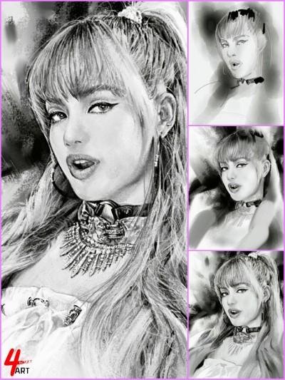 ☆[YouTube] 'LALISA' LISA ■ process   4ocketart   Digital Drawing   PENUP
