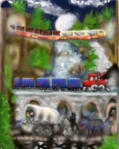 TRAINS.( Challenge ) | bluehippo | Digital Drawing | PENUP