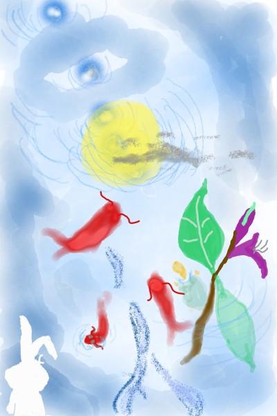 Thief in the water (moon)   minib   Digital Drawing   PENUP