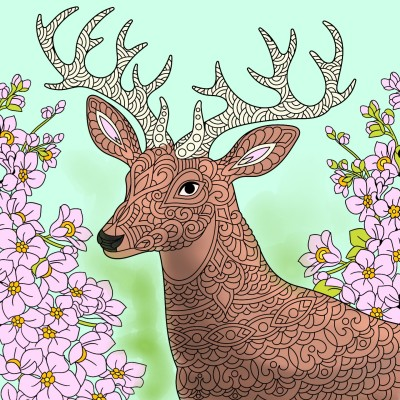 the deers glar , AT YOU ! | THE_BEST | Digital Drawing | PENUP