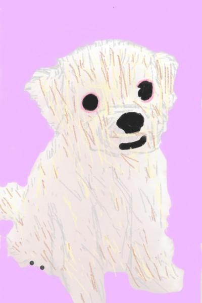 웃는 강아지(a smiling puppy) | Silver | Digital Drawing | PENUP