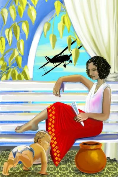 Plane over Mum's kid | IJF | Digital Drawing | PENUP