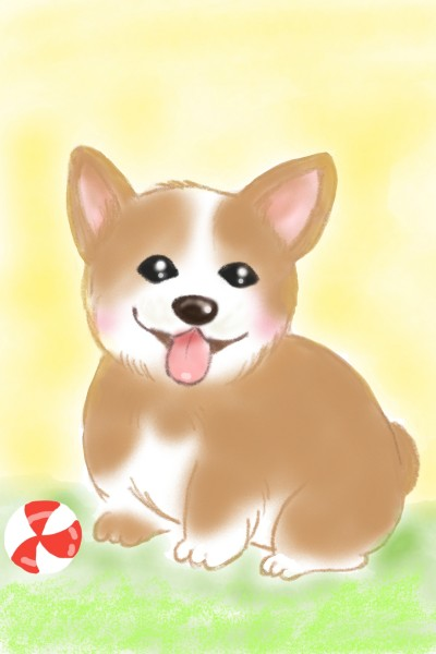 Happy Doggy  | Sylvia | Digital Drawing | PENUP