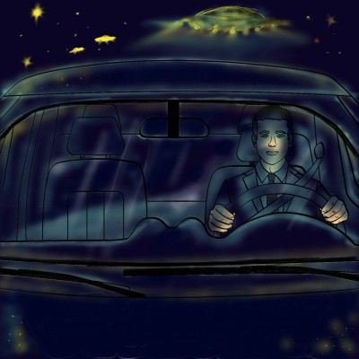 Great Night Driving - What could go wrong? | jenart | Digital Drawing | PENUP