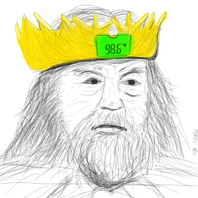 LCD crown thermometer | Akeepaki | Digital Drawing | PENUP