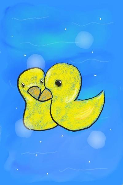 兩隻小鴨   Angel   Digital Drawing   PENUP