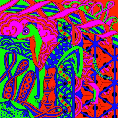 (God Is Dog Spelled Backwards) Abstract | Bekkie | Digital Drawing | PENUP