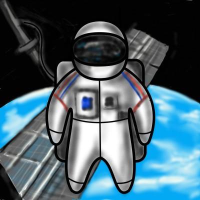 Space Walk - International Space Station | jenart | Digital Drawing | PENUP
