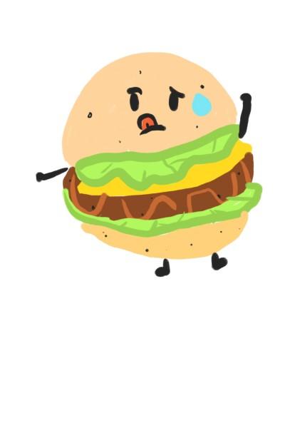 뚱뚱한 햄 버거버거!! | emily | Digital Drawing | PENUP