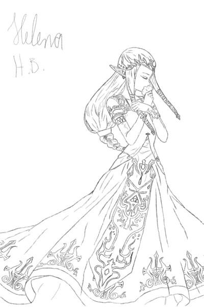 Princess Zelda  Twilight princess  | Zelda_Kriegerin | Digital Drawing | PENUP