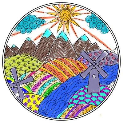 Paisaje Montañoso | JosephDeLuna | Digital Drawing | PENUP