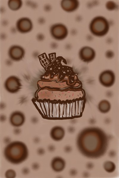Draw brown cupcake | vala1221 | Digital Drawing | PENUP