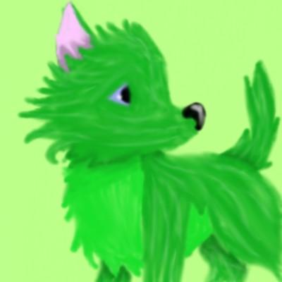 초록 늑대? | animalser_Q-AE_ | Digital Drawing | PENUP