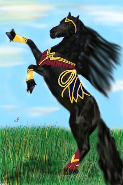Wonder Woman Friesian Horse | Rebecca | Digital Drawing | PENUP