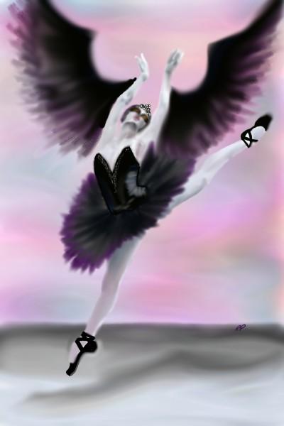 Odile the Black Swan from Swan Lake | Rebecca | Digital Drawing | PENUP