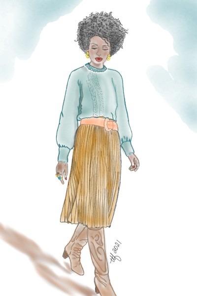 Turquoise and Suede   TeeTee   Digital Drawing   PENUP