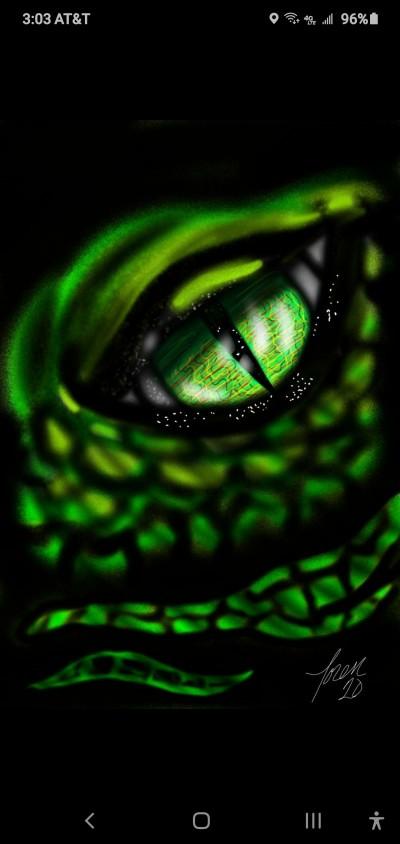 dragon eye   Tatcrazzy1974   Digital Drawing   PENUP
