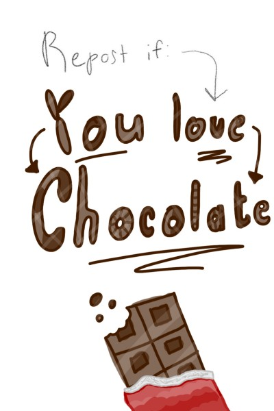 Repost if you love: CHOCOLATE | Autumn.Queen | Digital Drawing | PENUP