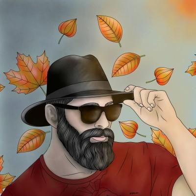 Man in Autumn | Monica.Baumann | Digital Drawing | PENUP