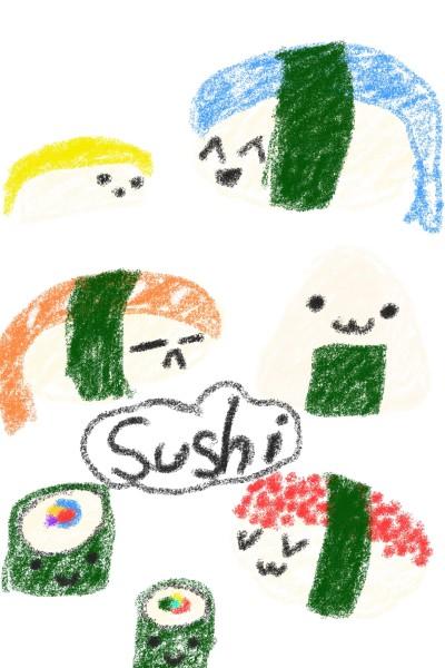 SUSHI!!!   pinkdino   Digital Drawing   PENUP