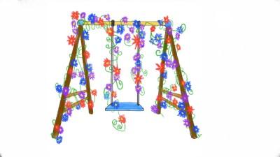 Flower Swing   Raven   Digital Drawing   PENUP