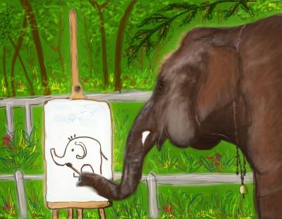 Bali Elephant ( Suda..The elephant painting )   S.Acharya   Digital Drawing   PENUP