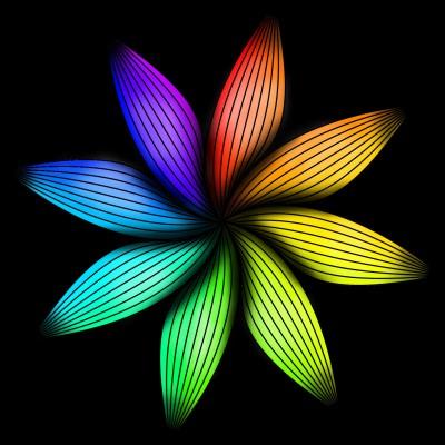 Rainbow Flower   PersonalSub   Digital Drawing   PENUP