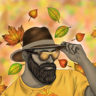 Dark and handsome in the autumn season  | Sylvia | Digital Drawing | PENUP